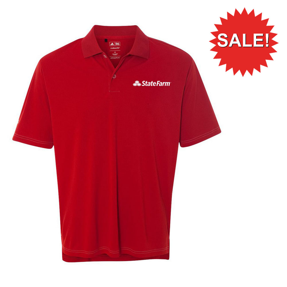 MEN'S ADIDAS CLIMALITE CONTRAST STITCH POLO