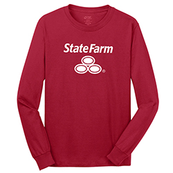 HEAVY COTTON RED L/S T-SHIRT