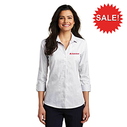 WOMEN'S 3/4 SLEEVE MICRO TATTERSALL EASY CARE
